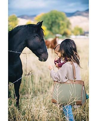 Little Unicorn Borsa Cambio in Ecopelle Manifest Weekender, Verde Oliva - Con materassino e ganci per passeggino Borse Tracolla