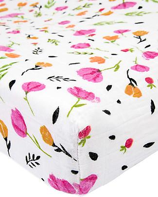 Little Unicorn Coprifasciatoio Berry & Bloom - 100% Mussola di Cotone Coprifasciatoi e Imbottiture
