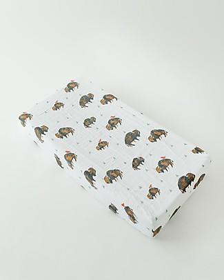 Little Unicorn Coprifasciatoio Bisonti - 100% Mussola di Cotone Coprifasciatoi e Imbottiture