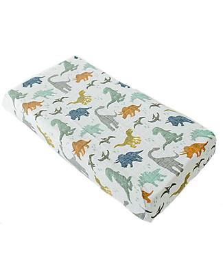 Little Unicorn Coprifasciatoio, Dino Friends - 100% Mussola di Cotone Coprifasciatoi e Imbottiture