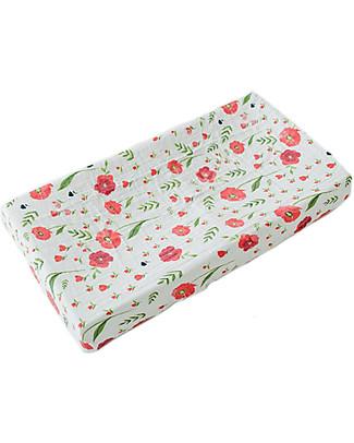 Little Unicorn Coprifasciatoio, Summer Poppy - 100% Mussola di Cotone Coprifasciatoi e Imbottiture