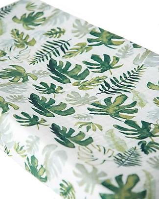 Little Unicorn Coprifasciatoio, Tropical Leaf - 100% Mussola di Cotone Coprifasciatoi e Imbottiture
