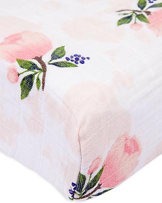 Little Unicorn Coprifasciatoio Watercolor Rose - 100% Mussola di Cotone Coprifasciatoi e Imbottiture