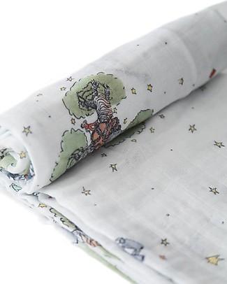 Little Unicorn Maxi Coperta Swaddle Milleusi 120 x 120 cm, Il Piccolo Principe - 100% Mussola di Cotone Copertine Swaddles