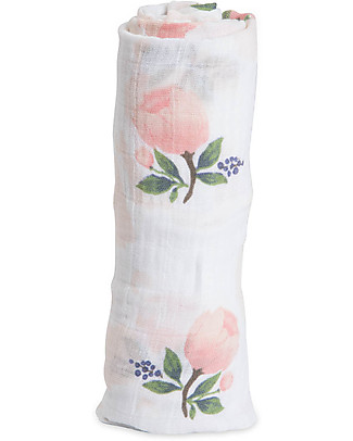 Little Unicorn Maxi Coperta Swaddle Milleusi 120 x 120 cm, Watercolor Rose - 100% Mussola di Cotone Copertine Swaddles