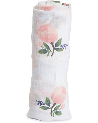 Little Unicorn Maxi Coperta Swaddle Milleusi 120 x 120 cm, Watercolor Rose - 100% Mussola di Cotone null
