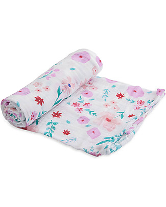 Little Unicorn Maxi Copertina Swaddle Milleusi - Morning Glory - 100% Mussola di Cotone Copertine Swaddles