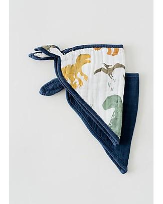 Little Unicorn Set 2 Bavaglini Bandana, Dino - 3 strati di 100% Mussola di Cotone Bavagli Classici