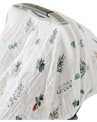 Little Unicorn Tendina Ovetto Canopy - Cactus - 100% Mussola di Cotone Accessori