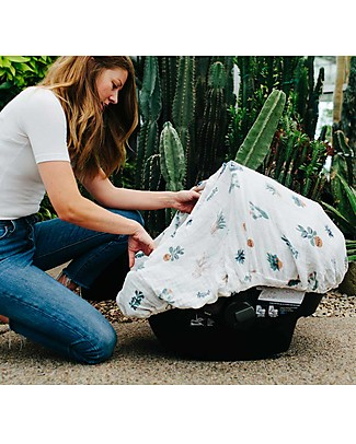 Little Unicorn Tendina Ovetto Canopy - Cactus - 100% Mussola di Cotone Accessori