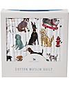 Little Unicorn Trapunta Baby 120 x 120 cm, Cani - 4 strati di mussola di cotone 100% Coperte