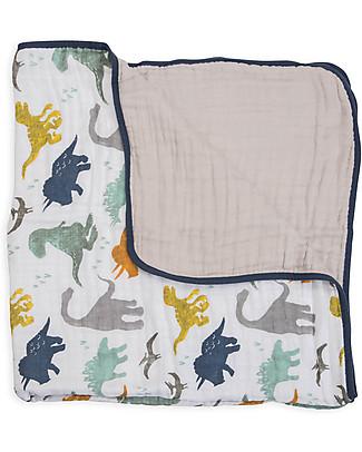 Little Unicorn Trapunta Baby 120 x 120 cm, Dino Friends - 4 strati di mussola di cotone 100% null