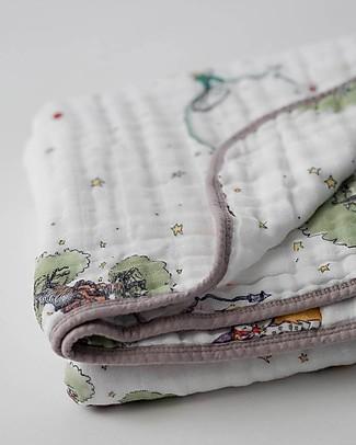 Little Unicorn Trapunta Baby 120 x 120 cm, Il Piccolo Principe - 4 strati di mussola di cotone 100% Coperte