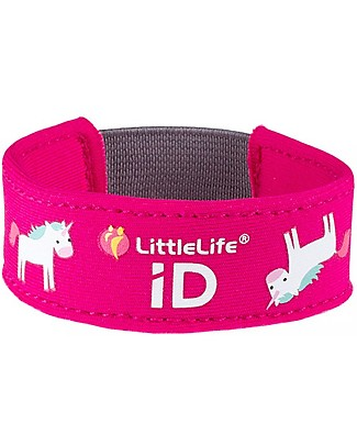 LittleLife Braccialetto Bimba Safety ID, Unicorno Bracciali