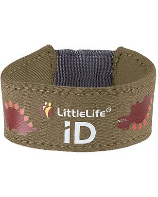 LittleLife Braccialetto Bimbo Safety ID, Dinosauro Bracciali