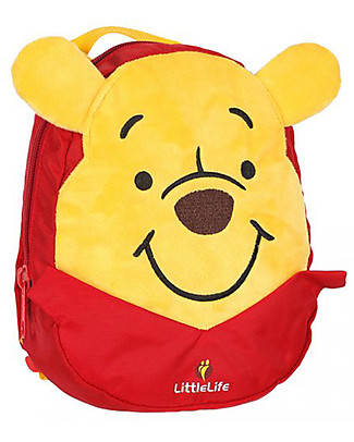 LittleLife Zainetto Bimbo 1-3 anni, Winnie The Pooh - Redinella di Sicurezza Inclusa Zainetti