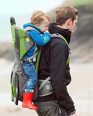 LittleLife Zaino Portabebè Adventurer, Verde - Con Comoda Tasca Porta Oggetti! Pesa solo 1,9 kg, da 6 mesi a 3 anni! Zaini