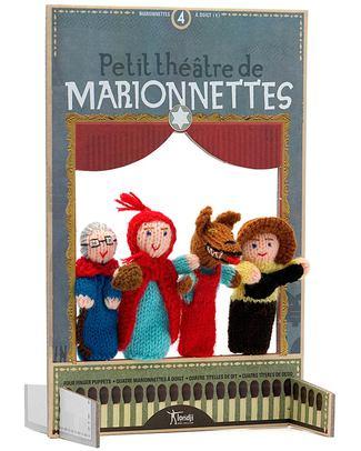 Londji Burattini da Dita e Teatrino - Cappuccetto Rosso (portatili e divertenti!)  Burattini