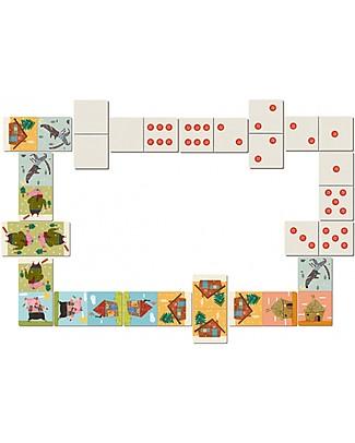 Londji Domino 3 Porcellini - 28 Tessere - Cartone Riciclato! Giochi Di Una Volta