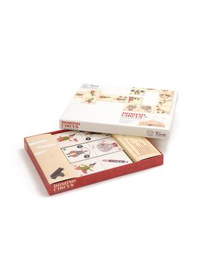 Londji Domino Circus - 28 Tessere - Cartone Riciclato Giochi Di Una Volta
