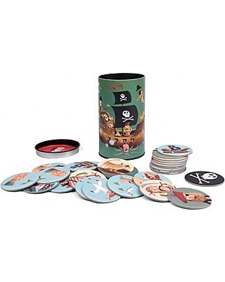Londji Gioco di Carte Memory I'm a Pirate - Include 32 carte illustrate! Memory
