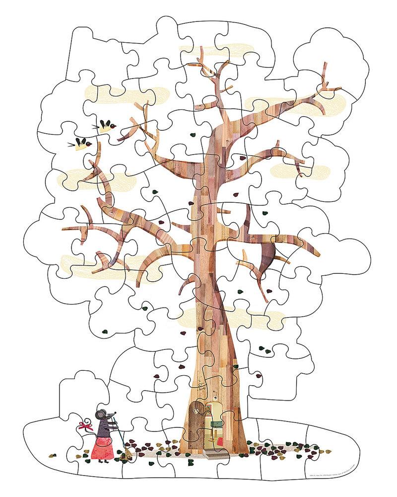 Londji puzzle albero double face alto cm in