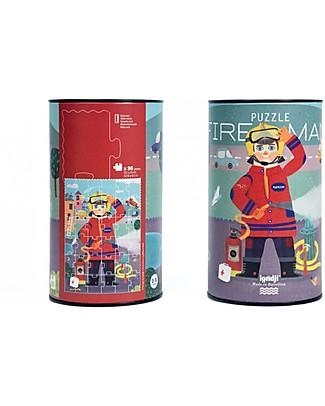 Londji Puzzle del Pompiere - 36 grandi pezzi - Cartone Riciclato! Puzzle
