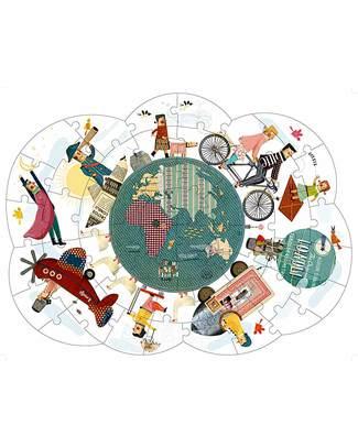 Londji Puzzle - Giro del Mondo - 52 pezzi extra large e reversibile! Puzzle