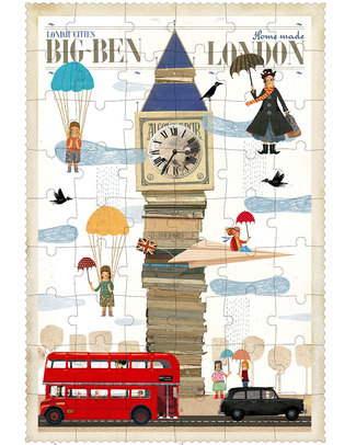 Londji Puzzle London Big Ben - 54 Pezzi Puzzle