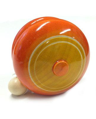 Londji YoYo Classico - Arancione e Giallo - Legno Naturale e colori Vegetali Atossici Regalini