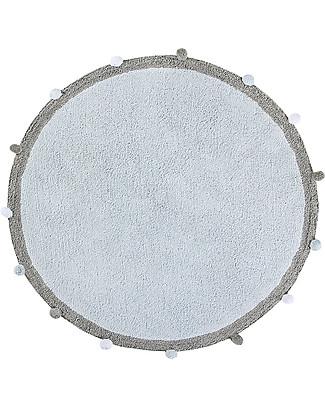 Lorena Canals Bubbly, Tappeto Tondo Lavabile, Azzurro - 120 cm diametro Tappeti