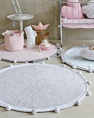 Lorena Canals Bubbly, Tappeto Tondo Lavabile, Grigio Chiaro - 120 cm diametro Tappeti
