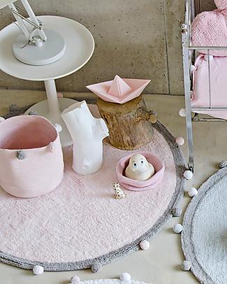 Lorena Canals Bubbly, Tappeto Tondo Lavabile, Rosa - 120 cm diametro Tappeti