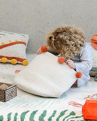 Lorena Canals Cesto Portaoggetti Bubbly, Naturale/Terracotta - Fatto a mano Contenitori Porta Giochi