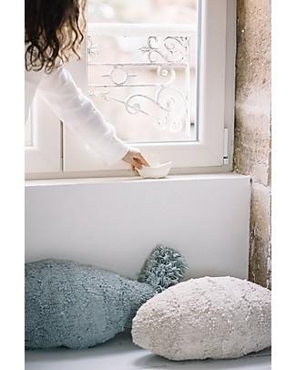 Lorena Canals Cuscino Lavabile Bambino Pesce, Natural - 100% Cotone (60 x 27 cm) Cuscini Arredo