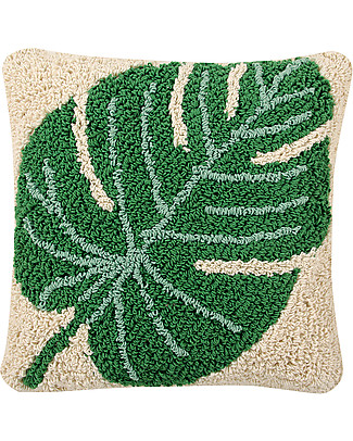 Lorena Canals Cuscino Lavabile Monstera, 38 x 38 cm - Fatto a mano Cuscini Arredo