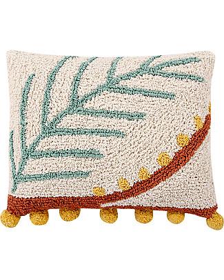 Lorena Canals Cuscino Lavabile Palm, 38 x 48 cm - Fatto a mano Cuscini Arredo