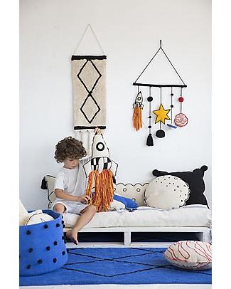 Lorena Canals Cuscino Lavabile Razzo - 100% cotone (65 x 30 cm) Cuscini