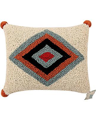Lorena Canals Cuscino Lavabile Rhombus, 38 x 48 cm - Fatto a mano Cuscini Arredo