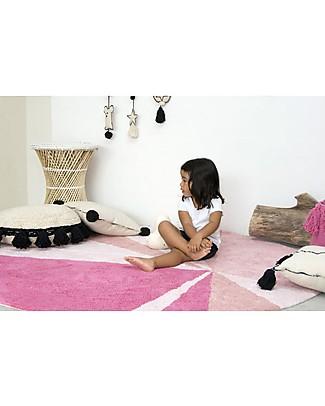 Lorena Canals Cuscino Quadrato con Bordo Nero, Beige - 100% cotone (40X40 cm) Cuscini Arredo