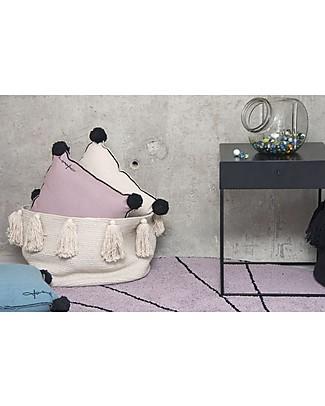 Lorena Canals Cuscino Quadrato con Bordo Nero, Legno di rosa - 100% cotone (40X40 cm) Cuscini