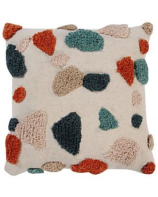 Lorena Canals Cuscino Quadrato Terrazzo, Marmo - 100% cotone (40X40 cm) Cuscini Arredo