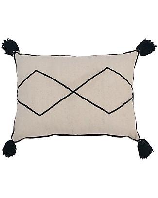 Lorena Canals Cuscino Rettangolare con Pompon Bereber -  100% cotone (55x40 cm) null