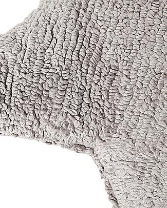 Lorena Canals Cuscino Stella Grigio Chiaro – 100% Cotone (lavabile in Lavatrice!) Cuscini Arredo