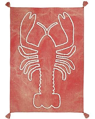 Lorena Canals Decorazione da Parete Aragosta Gigante, Rosso Mattone - 140x200 cm - 100% cotone Decorazioni