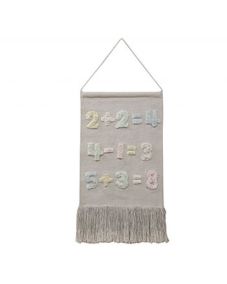 Lorena Canals Decorazione da Parete Baby Numbers, Back to School - 100% cotone Decorazioni