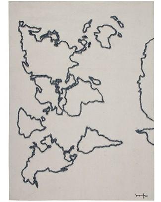 Lorena Canals Decorazione da Parete in Tessuto Cartina Geografica, Naturale - 120 x 160 cm Decorazioni