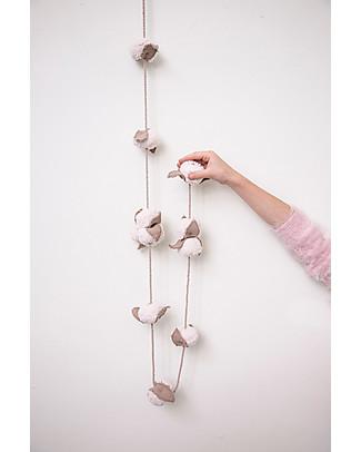 Lorena Canals Ghirlanda Fiori di Cotone - Lunghezza 150 cm Decorazioni