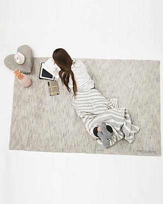 Lorena Canals Grande Tappeto Lavabile Mix Grigio Pietra - 100% Cotone (140 x 200 cm)  Tappeti