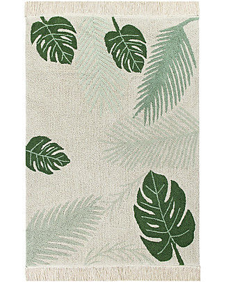 Lorena Canals Grande Tappeto Lavabile Tropical, Verde - 140 x 200 cm Tappeti